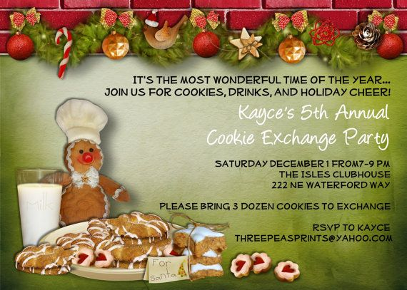 121 best images about Cookie Swap – Christmas Cookie Party Invitations