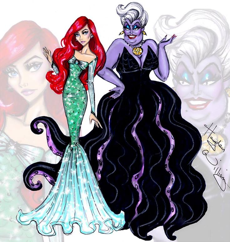 Disney Divas 'Princess vs Villainess' by #HaydenWilliams: Ariel & Ursula