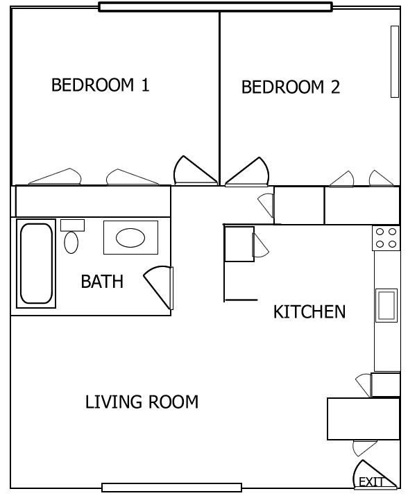 stunning two bedroom apartment plans gallery - interior decorating