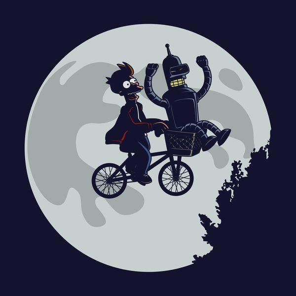 "ET + Futurama  = ""Future Friends"" crossover by Jasesa  #Futurama #ET #Fry…"