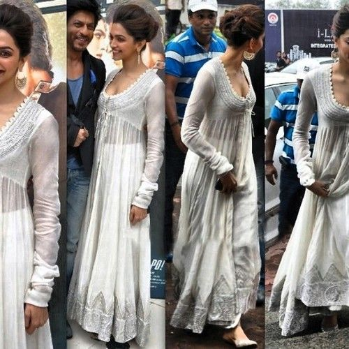 Deepika padukone long anarkali in gown style during chenai express promotion in www.indiantrendz.com at best reasonable price