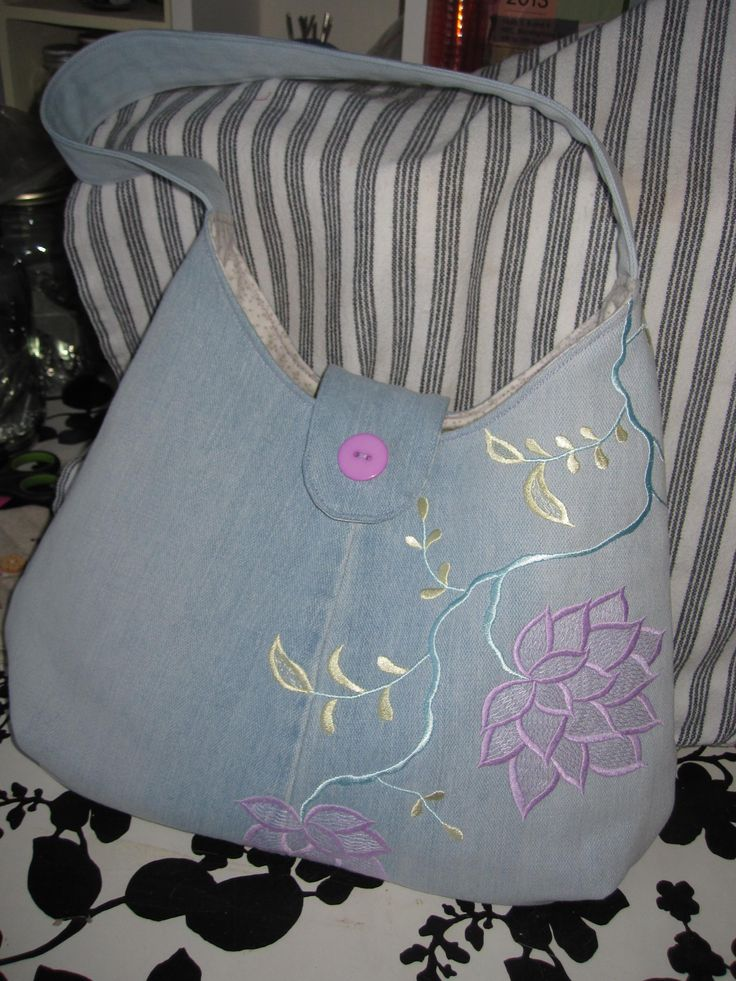up-cycled jeans bag