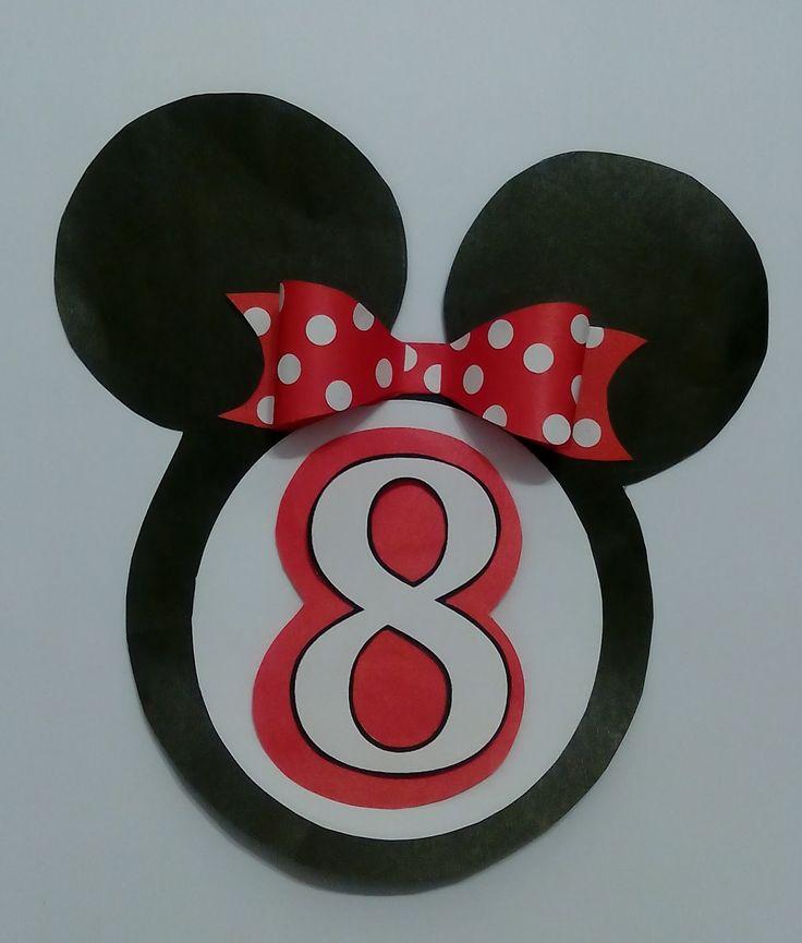Znalezione obrazy dla zapytania urodziny myszki miki