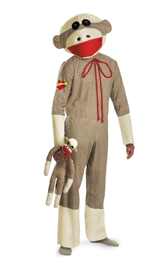 Men's Sock Monkey Halloween Costume Size: XL