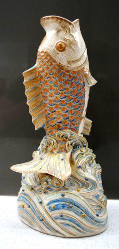 17 best images about satsuma porcelain on pinterest for Koi fish vase