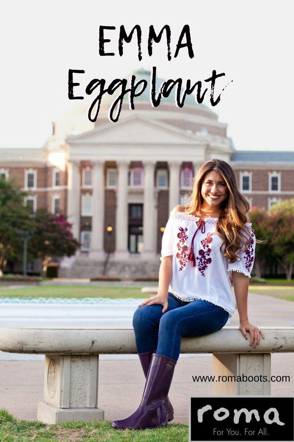006b647c0861 EMMA Classic Eggplant Women's Rain Boots | EMMA Collection | Rain boots,  Boots, Fashion