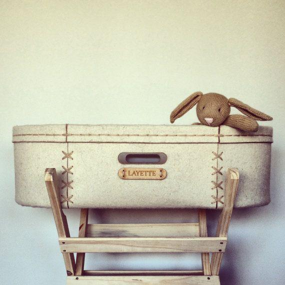 Handmade Moses Basket, handstiched, modern baby crib ...