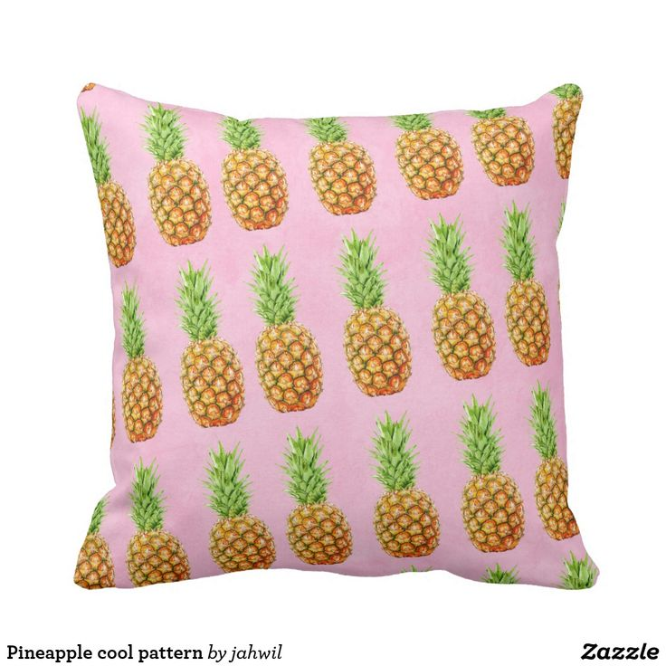 Pineapple cool pattern throw pillow #pineapple #cool #pattern #tropical #minimalist #fresh #funny #fruit #beach #travel #holidays