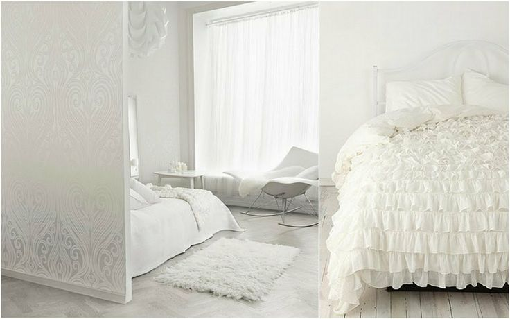 all white bedroom | in a rental property with horrible orangey red carpet in the bedroom ...