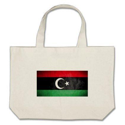#Libyan Flag Large Tote Bag - #travel #bags