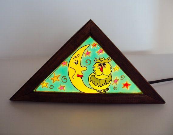 Ночник детский витражный Звездный от Stainedglasss500 на Etsy