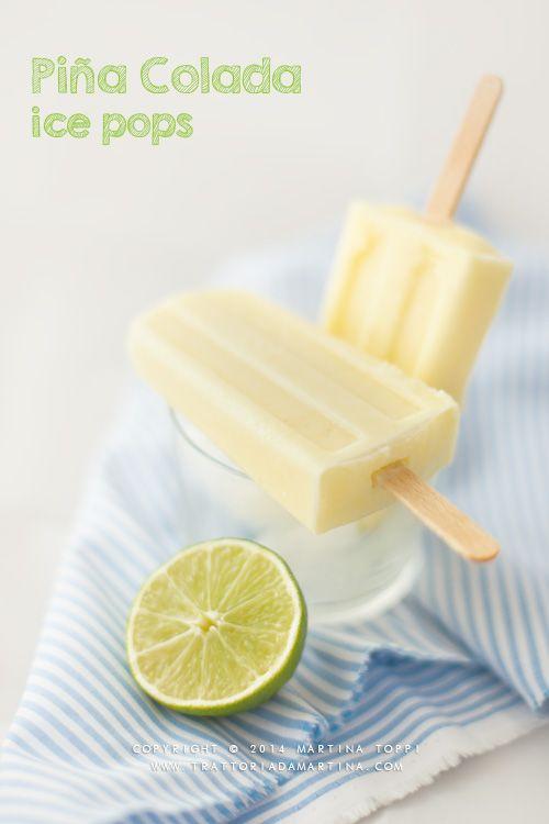 Ghiaccioli alla piña colada (Piña colada ice pops)   trattoriadamartina  