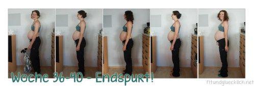 Die Schwangerschaftswochen 36-40 meiner ersten Schwangerschaft (Endspurt - oder auch nicht, es gibt bis Woche 43...)  http://fitundgluecklich.net/2014/07/17/schwangerschaft-wochen-36-40-pregnancy-weeks-36-40/
