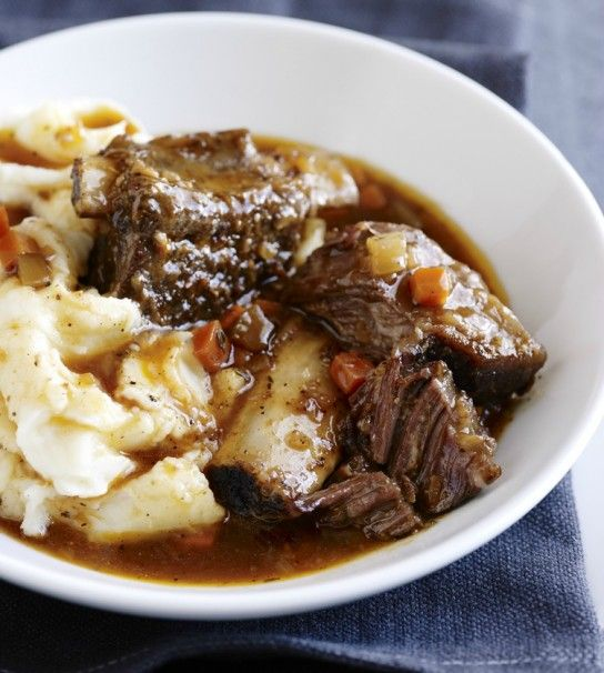 stout-braised short ribs {slow cooker}