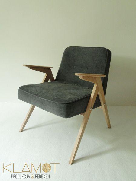 Klasyczny fotel z PRL model 300-177 - Klamot - Kanapy i fotele