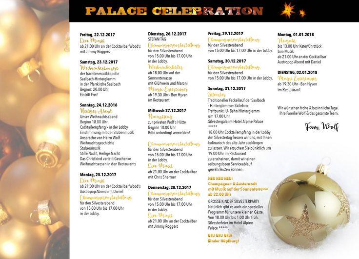 Alpine Palace X-Mas Programm 2017