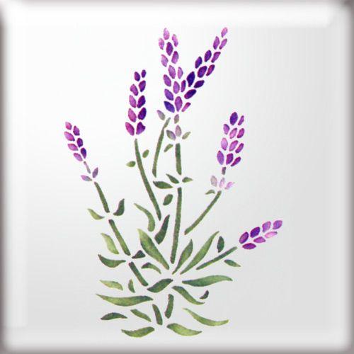 Lavender Stencil Florals Amp Foliage Pinterest