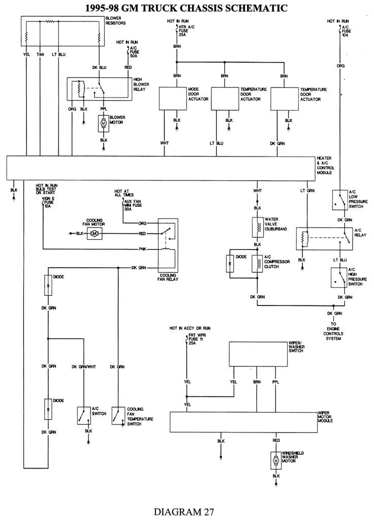 wiring schematic heater blower motor for 98 chevy tahoe