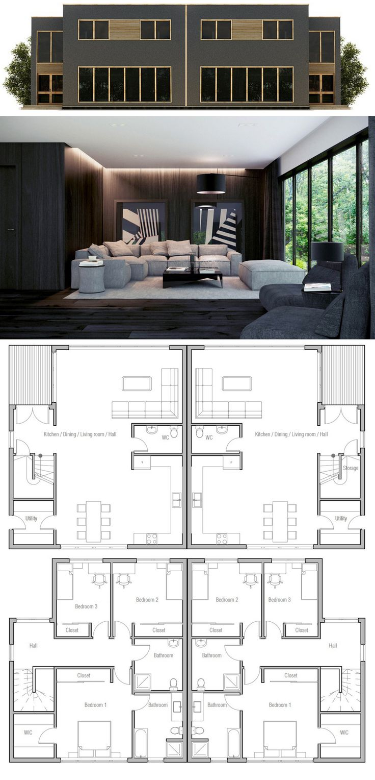17 best images about duplex fourplex plans on pinterest Fourplex apartment plans