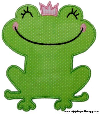 Frog Princess Applique Design