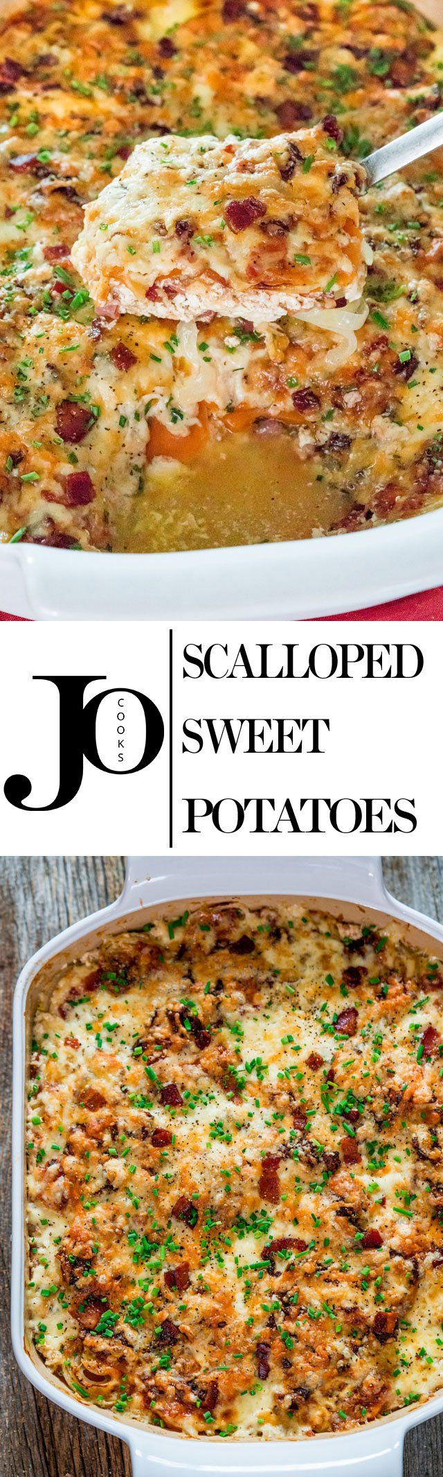 These Scalloped Sweet Potatoes are so creamy and delicious. They're the perfect side dish for your holiday or winter meals!