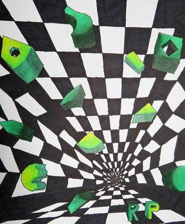 Op Art Parallel Perspective Project Middle School- Artsonia