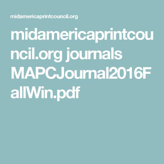 midamericaprintcouncil.org journals MAPCJournal2016FallWin.pdf