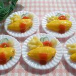 食べかけオムライス☆プレート 樹脂粘土 ミニチュアフード