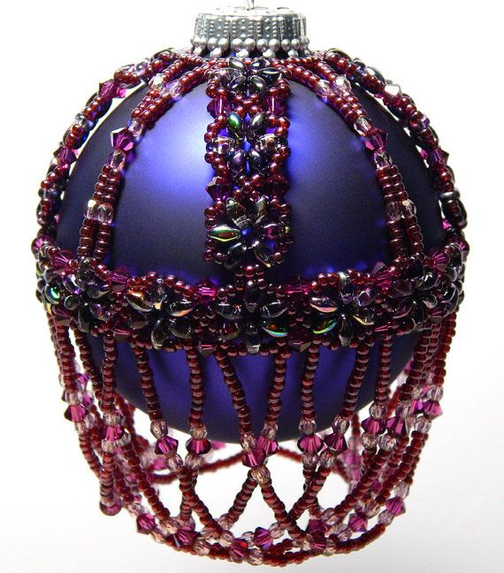 Duo+Delight+Beaded+Ornament+Cover+Pattern+by+Westtexasjewels,+$6.50