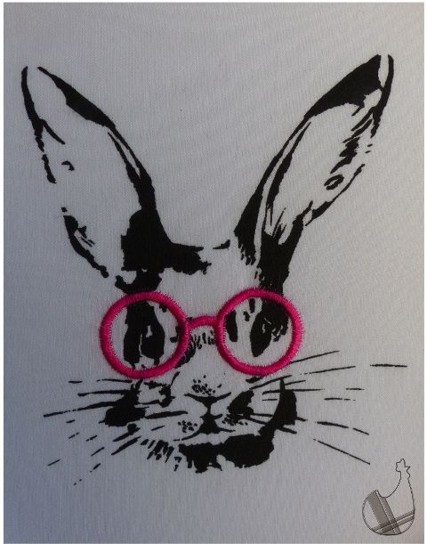 TUTORIEL: Lapin à lunettes - Le blog de lacocotteacarreaux