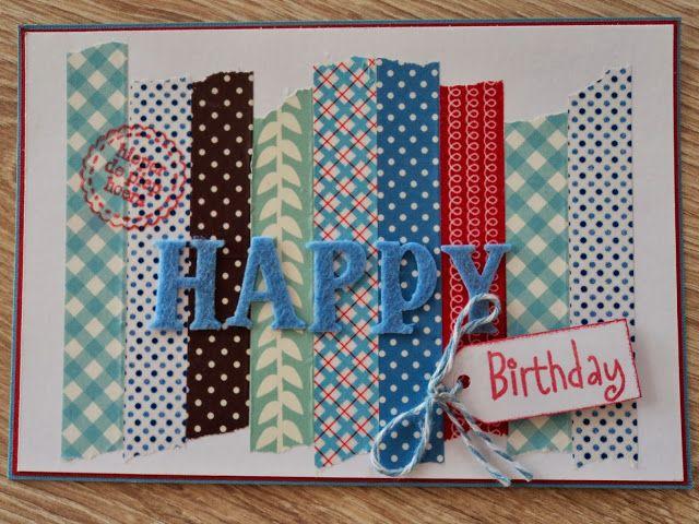 nog een washi-tape kaartje... - Cards 2 love