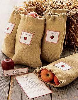 Fresh-picked Apples Wedding Favor