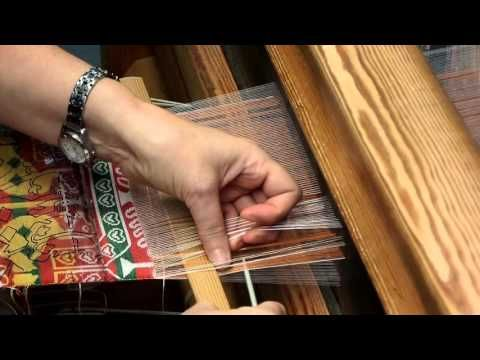 Silkfabric from the Oseberg burial - YouTube