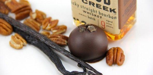 Bourbon Pecan Truffle: In this dark chocolate truffle, we use Knob ...