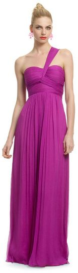 Carlos Miele Magenta Orchid Gown on shopstyle.com #dress #bridesmaid #gown #elegant #onestrap