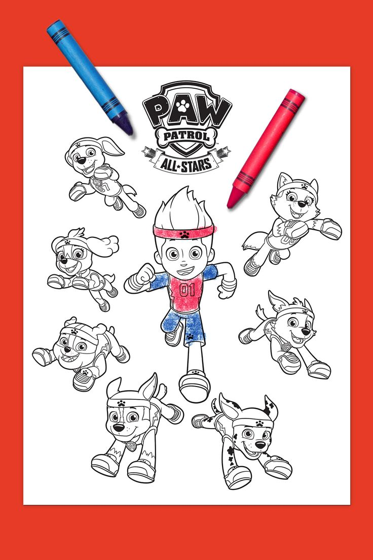 PAW+Patrol+All-Stars+Coloring+Page