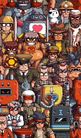 Mercenary Kings tiling backgrounds.  Pixel art, video game, paul robertson