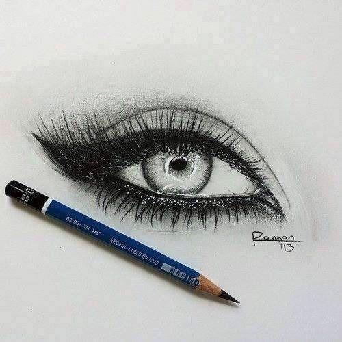 Amazing eye pencil drawing: