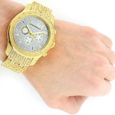 56 best images about watches nice watches bentley iced out luxurman mens diamond watch 1 25ct yellow gold tone