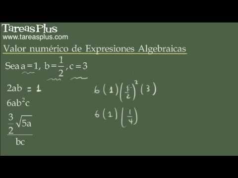 Valor numérico de una expresión algebraica (evaluación)