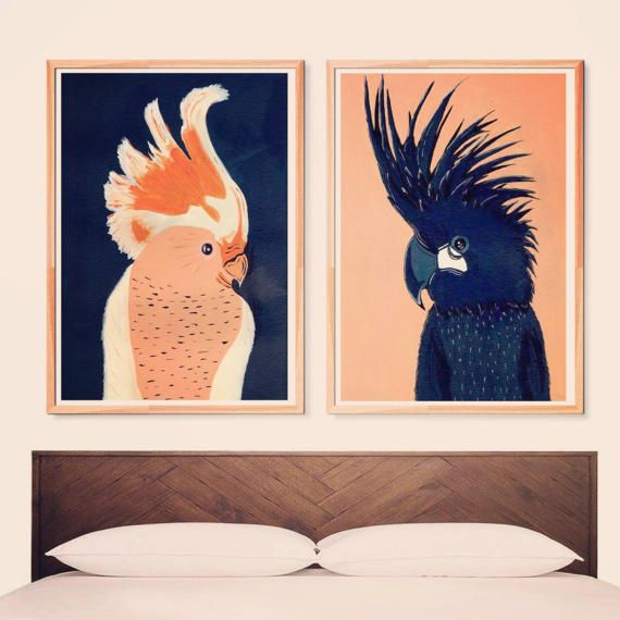 Set of 2 posters | Love birds | Parrots art | Couple art | Indigo and peach painting | Wall art | Wall decor | Poster art | Printable poster    ZuskaArt : artwork | watercolor painting | art prints | canvas art | framed art | canvas painting | watercolour | art prints | art posters | watercolor art | giclee prints | poster art | print wall | water painting | prints for sale | giclee |painting on canvas