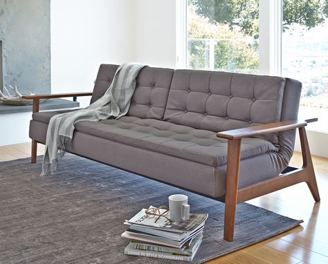 Tellima Convertible Sofa from Dania Furniture Co. #futon #bedroomfurniture #furniture #livingroomfurniture #scandinavian #scandistyle #interiors