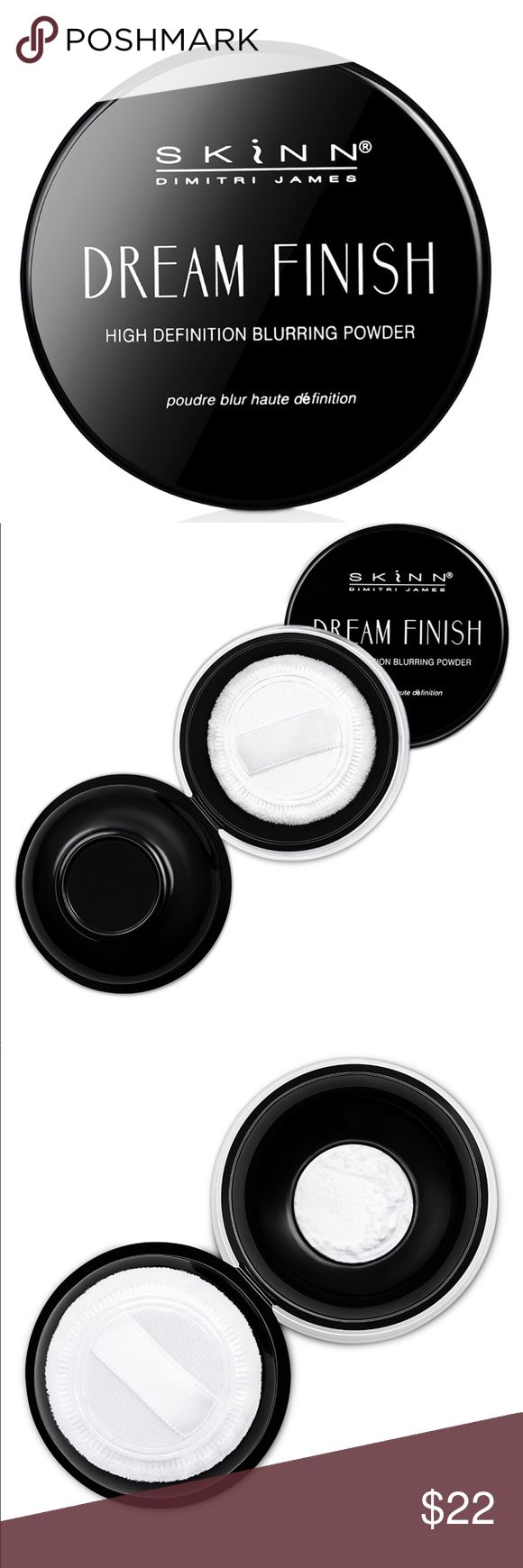 SKINN Dream Finish high definition blurring powder Helps mattify unwanted shine while softening the look of imperfections, pores and fine lines for a radiant complexion. Talc-free translucent powder enriched with hyaluronic acid to help keep your skin hydrated. Includes vitamin C to help brighten the look of dull skin and vitamin B for its soothing properties. The powders are ultra-fine, silky and super lightweight so you never feel like you have anything on except a gorgeous soft-focus…