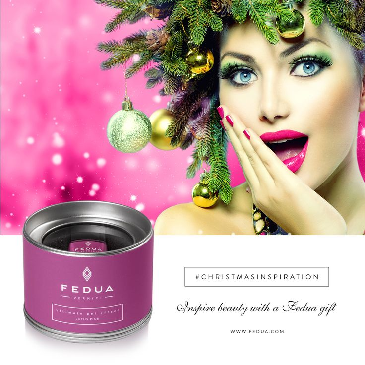 At Christmas the real protagonist is you: Lotus Pink www.feduacosmetics.com A Natale la vera protagonista sei tu: Lotus Pink www.feduacosmetics.com #feduacosmetics #christmasinspiration
