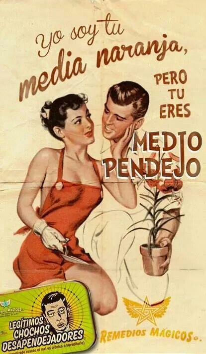 """media naranja"" (esp) X ""meia laranja"" ~""cara metade"" ~ ""alma gêmea"" (port)"