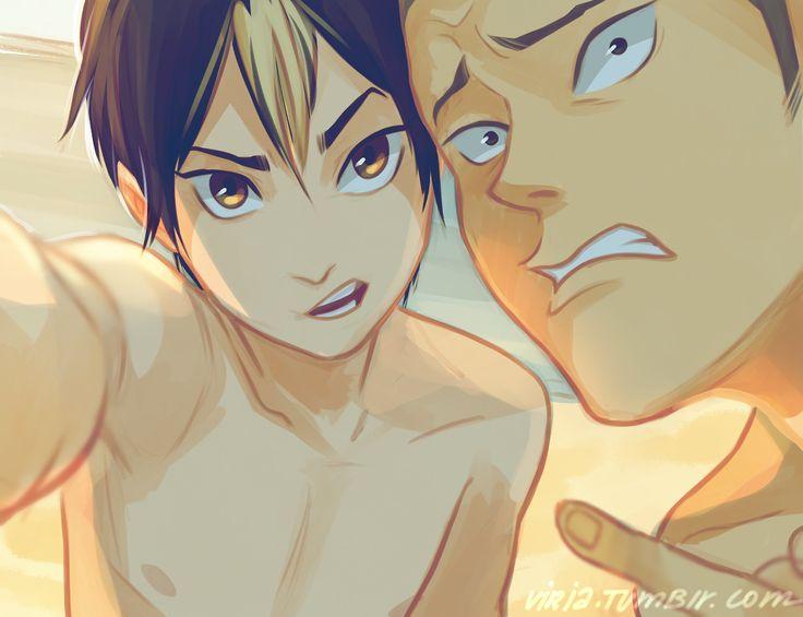 Nishinoya & Tanaka | by Viria | Haikyuu!! | Anime