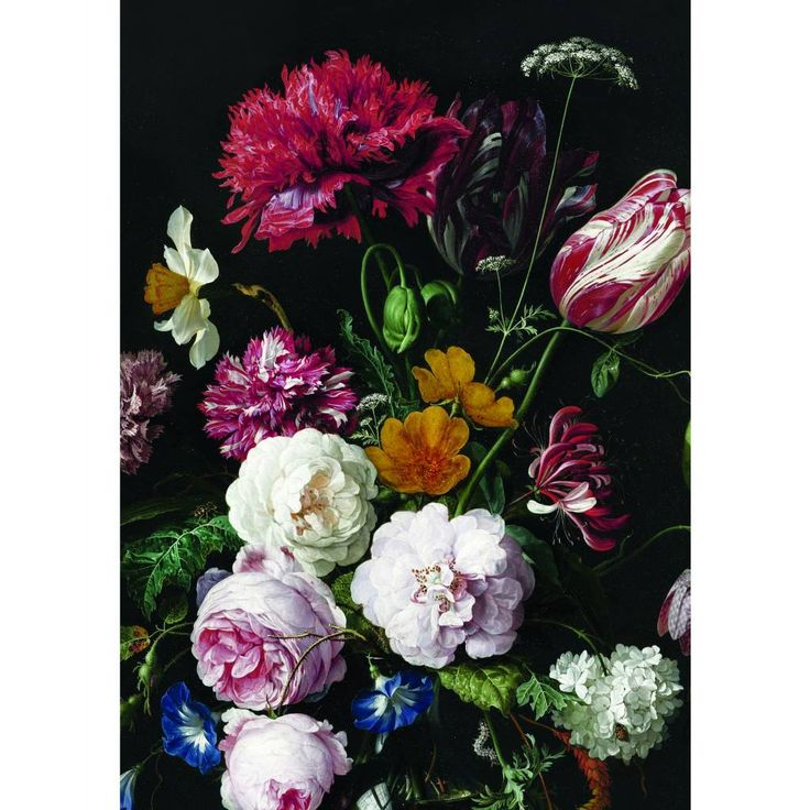 KEK Amsterdam Behang Golden Age Flowers II multicolor vliespapier 194,8x280cm