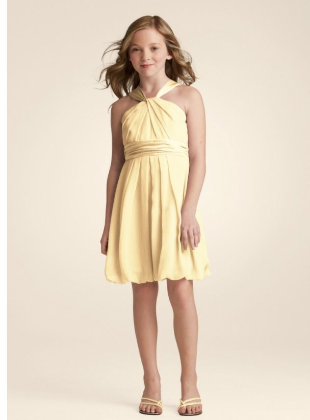 Canary Yellow Junior Bridesmaid Dress For Jazz Dresses