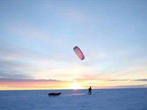 Snowkiting polar explorers make history in Greenland - GrindTV.com