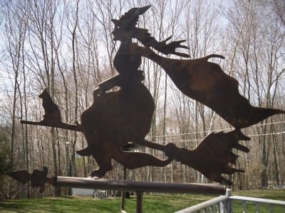 Witch Cottage:  #Witch #Cottage. Witch Weather Vane. Need this for my garden